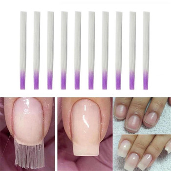10pc Nail Extension Glue Fiberglass to Acrylic Methane Salon Fiber Glass Studs for Extended Collection image