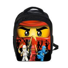 Kids Cartoon Satchel Back to School Gifts for Boys Girls LegoNinjago Pattern Kindergarten School Bag Mochila Para Ninos
