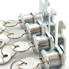 Цилиндр из алюминиевого сплава цилиндр замка набор 2 велосипеда для ящика почтового ящика 20 мм QJS магазин