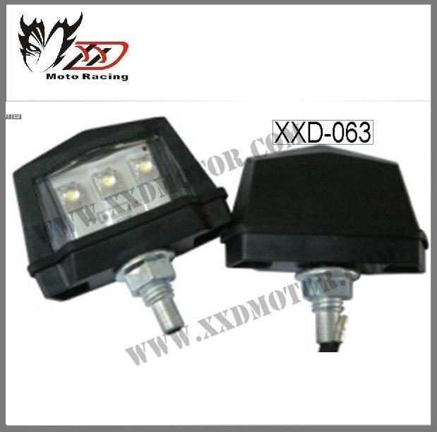 License plate light TL-GJ-055-1 universal for all motorcycle License plate light TL-GJ-055-1Black color and clear lens