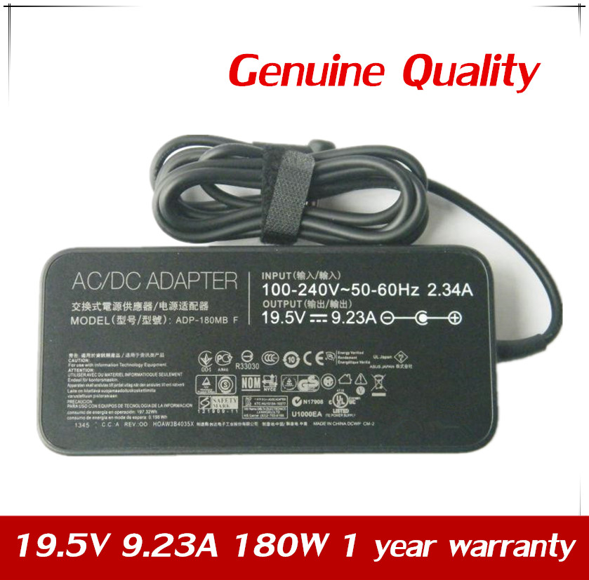 Genuine 19.5V 9.23A 180W Adapter For Asus ROG G750-JS ADP-180MB F FA180PM111 Eee PC <font><b>1215B</b></font> E4 N180W-02 Charger image