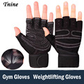 Tnine High Quality Women Gym Gloves Body Building Training Sport Fitness Gloves Exercise Weight Lifting Gloves Men Gloves Women