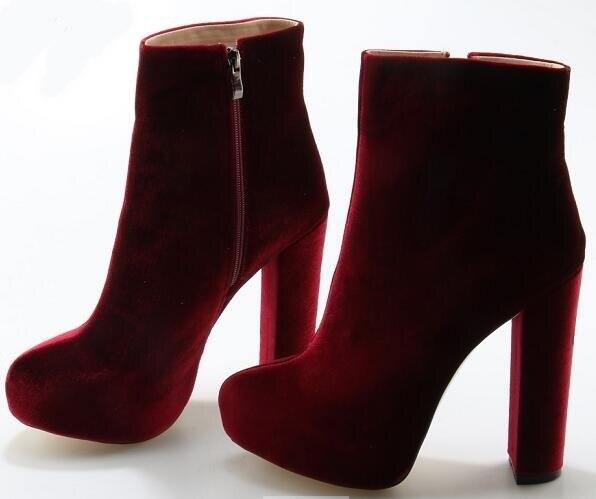 Velvet-Round-Toe-Woman-Ankle-Booties-Autumn-Winter-Chunky-Heels-Woman-Fashion-Blue-Green-Side-Zipper (3)