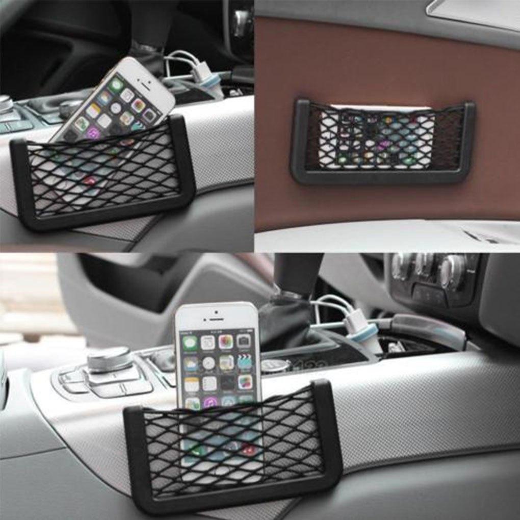 1pcs Universal Car Seat Side Back Storage Elastic Mesh Net Bag Phone Holder Pocket Organizer