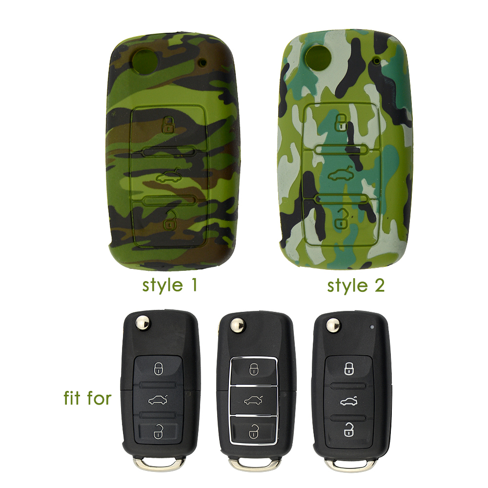 Silicone Car Key Case Cover For VW Volkswagen Golf 4 5 6 Bora Jetta POLO Passat B5 B6 Superb Octavia Fabia SEAT Ibiza Leon