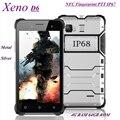 "Xeno original d6 teléfono impermeable ip68 4g a prueba de golpes teléfono 4g ram 64 gb rom smartphone 5 ""NFC PTT IP67 Teléfono de Huellas Dactilares"