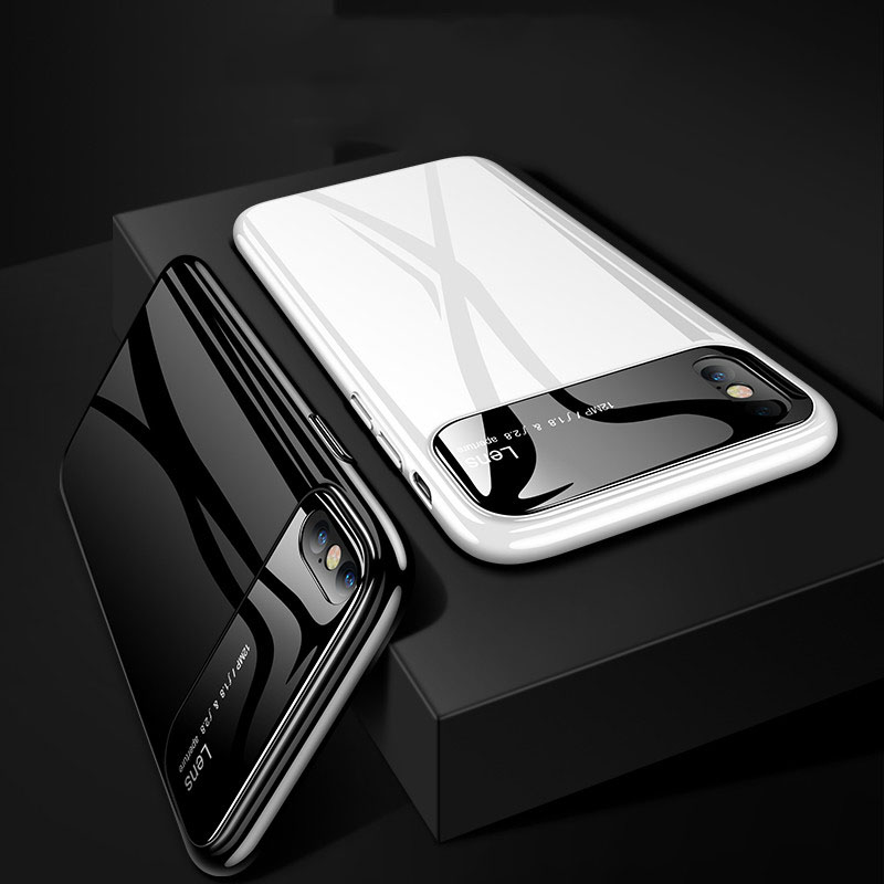 Galleria fotografica Luxury Shockproof Protective Case Cover For iPhone 6 6s 7 8 Plus Matte Hard Phone Cases For iPhone X Xs Max X Protector Shell