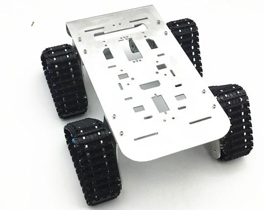 4WD Metal Tank Intelligent Crawler Robotic Chassis for DIY Mini RC Robot Car Toy Accessory 25.5x25x23cm стоимость