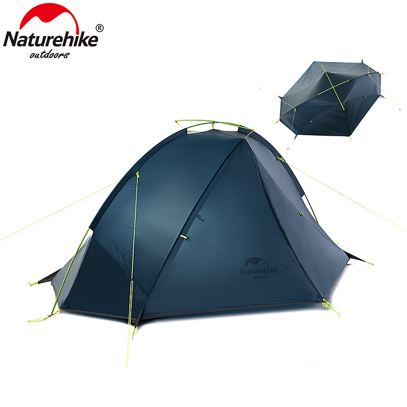 NatureHike Tent 4 seasons Outdoor Portable Double-layer Camping Hiking Tents For 1-2 Person Lightweight Waterproof PU 4000mm mobi outdoor camping equipment hiking waterproof tents high quality wigwam double layer big camping tent