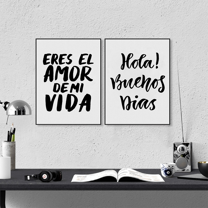 Pintura española de la lona Decoración del hogar Eres el amor de mi - Decoración del hogar