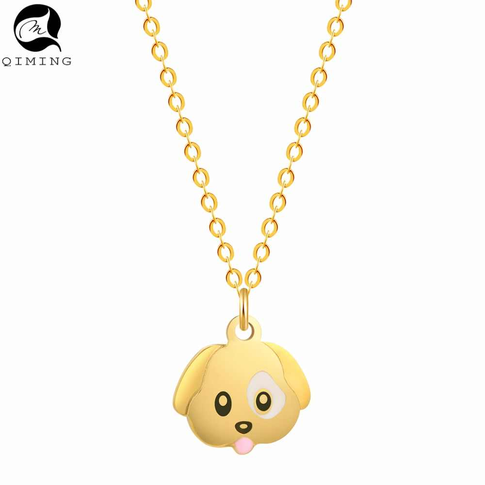 Cute Animal Dog Necklace Silver Pendant Puppy Dog Necklaces & Pendants for Women Jewelry Accessories