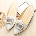 Zapatos de las sandalias de las mujeres 2017 nueva moda zapatillas de diamantes marea femenina del verano mujeres de gran tamaño fresco zapatillas 40-43