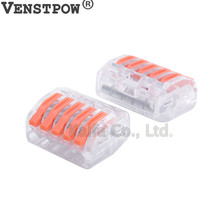 WAGO  Type 222-412 222-413 222-415 Compact Wire Wiring Connector Conductor Terminal Block With Lever 0.08-2.5mm2 214 218 SPL-2 3(China)