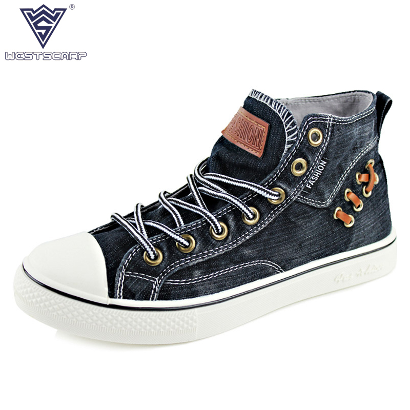 WEST SCARP New Men Shoes Winter High Top Sneakers Men Canvas Shoes, Brand Casual Men Shoes Sapato Masculino Plus Size 39-44 hot sale 2016 top quality brand shoes for men fashion casual shoes teenagers flat walking shoes high top canvas shoes zatapos