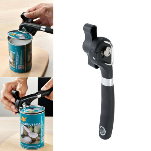 Professional Manual Tin Can Opener Safe Cut Lid Smooth Edge Side Stainless Steel Bottle Ergonomic Kitchen Tools