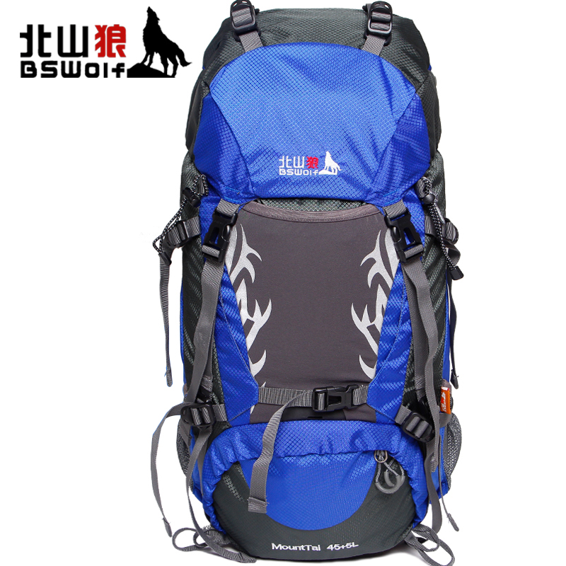BSWolf Outdoor Camping Mountaineering Bag 50L/60L Large Capacity Travel Backpack Waterproof Climbing Hiking Backpack Durable 60l outdoor military tactical backpack large capacity camping bags mountaineering bag men s hiking rucksack travel backpack