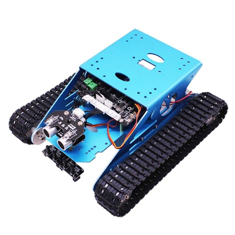 Robot Car Serbatoio Kit Per Arduino Intelligente Programmabile Serbatoio Chassis Robot Del Veicolo, intelligente di Apprendimento e di Stelo Bambini Educativi Giocattolo Super - 2