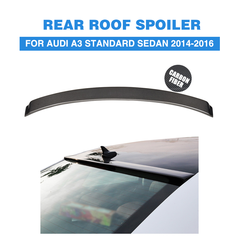 Carbon Fiber Rear Roof Spoiler Wing Sticker for Audi A3 Standard 2014 2015 2016 Rear Window Wing Car Styling выключатель 1 клавишный наружный бежевый 10а quteo