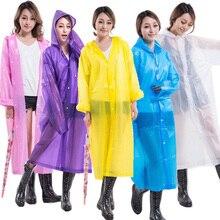 Неодноразовые утолщение дождевик для взрослого женский Пончо Куртка Детский плащ Мода Открытый путешествия можно использовать повторно