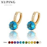 Twelve Colors Geometric Stud Earrings Jewelry Fashion Hoop Wedding Black White Blue Stone Ear Coloured Girls