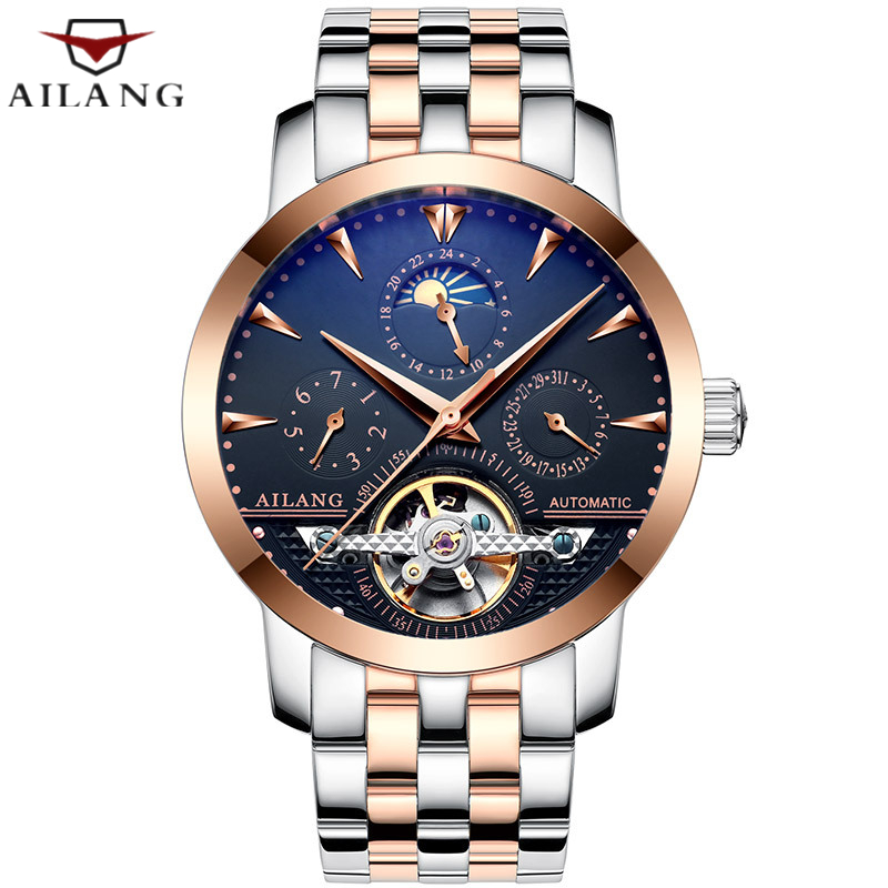 Top luxury brand Men watch Casual Waterproof Stainless steel Wrist watch Men Calendar Tourbillon Automatic Mechanical WatchTop luxury brand Men watch Casual Waterproof Stainless steel Wrist watch Men Calendar Tourbillon Automatic Mechanical Watch