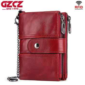 Wallet Wallets Women 2019 New Fashion Women 100% Genuine Leather lady Red Walets For Organizer Coin Purse Clutch Short Small HOT - DISCOUNT ITEM  40% OFF All Category