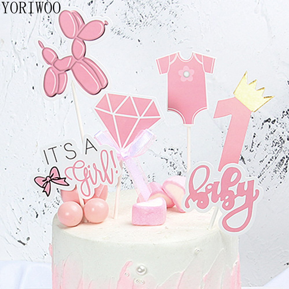 Sensational Yoriwoo 6Pcs Baby Shower Boy Paper Cupcake Toppers Happy Birthday Funny Birthday Cards Online Alyptdamsfinfo