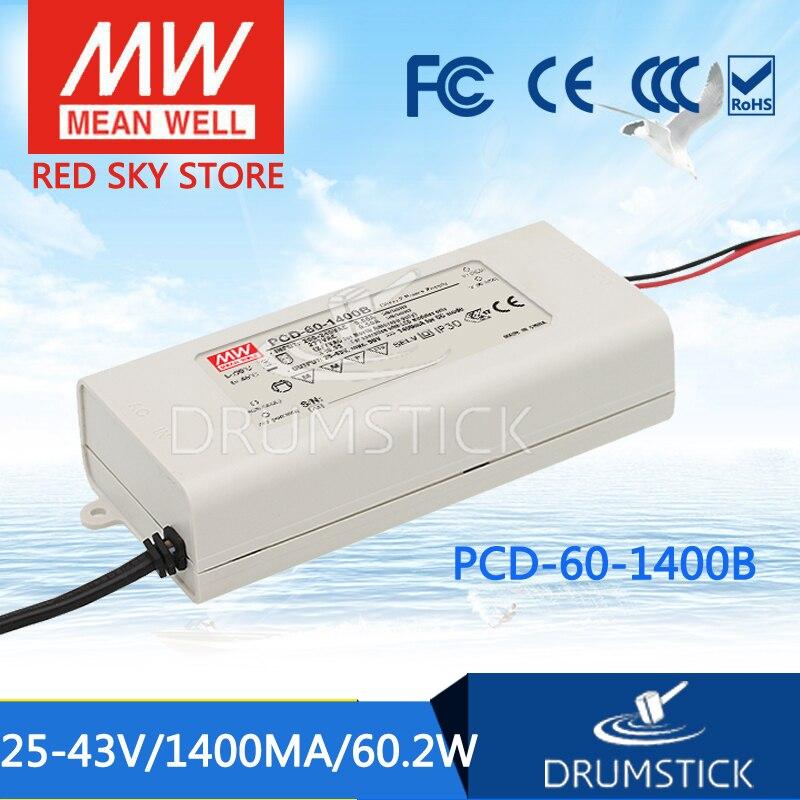 Meanwell PCD-60-1400B 43V 1400mA meanwell PCD-60 43V 60,2 W одиночный выход Индикатор импульсный источник питания [Real1]