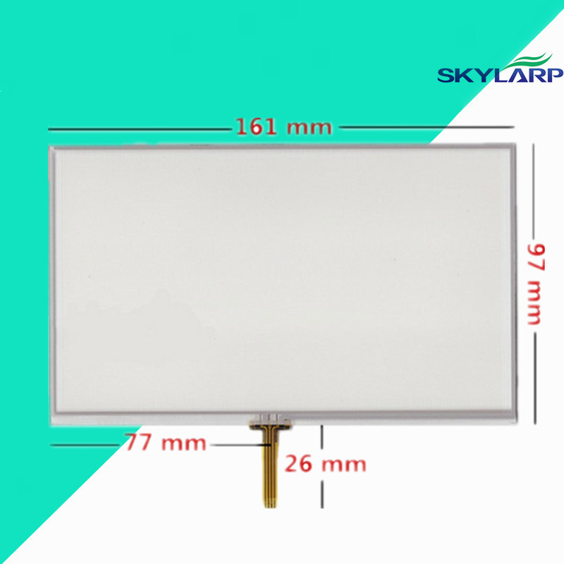New 7 Inch 4 Wire 161mm*97mm Weld Resistive Touch Screen Digitizer For GPS Navigator X10 X20 Touch Panel Glass Free Shipping