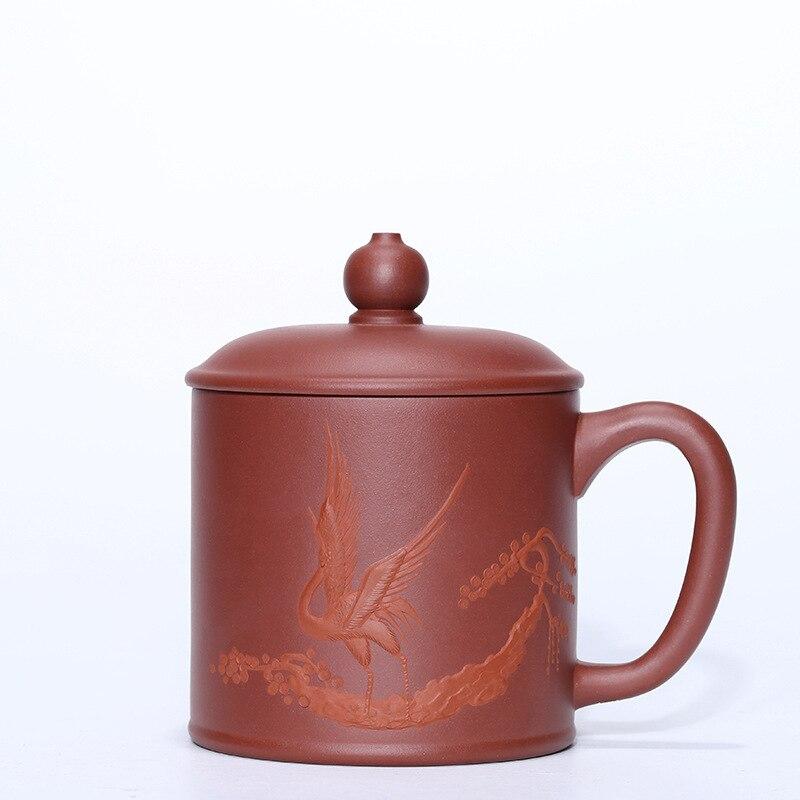 Sable violet couvert tasse minerai Mine pourpre boue tasse thé thé faisant bureau tasse cadeau théière Teaware Set personnalisation