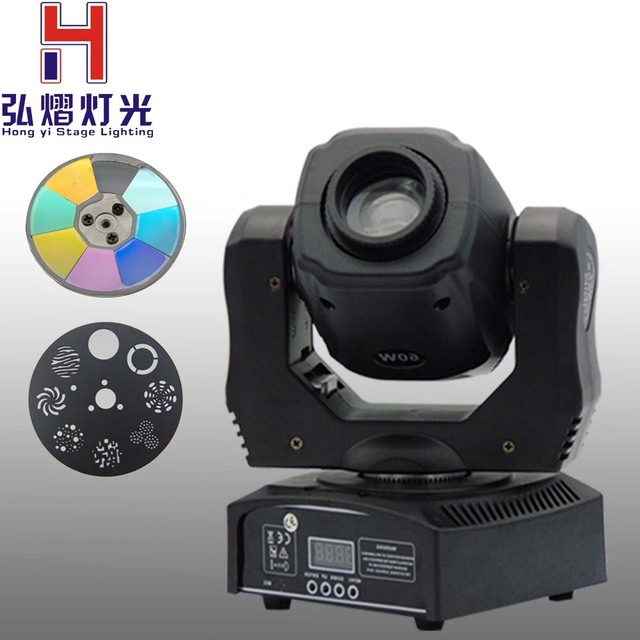 2016 60W Moving head light DMX DJ Disco Party Wedding Stage Effect Fixture 60W White LED Spot Moving Head Light