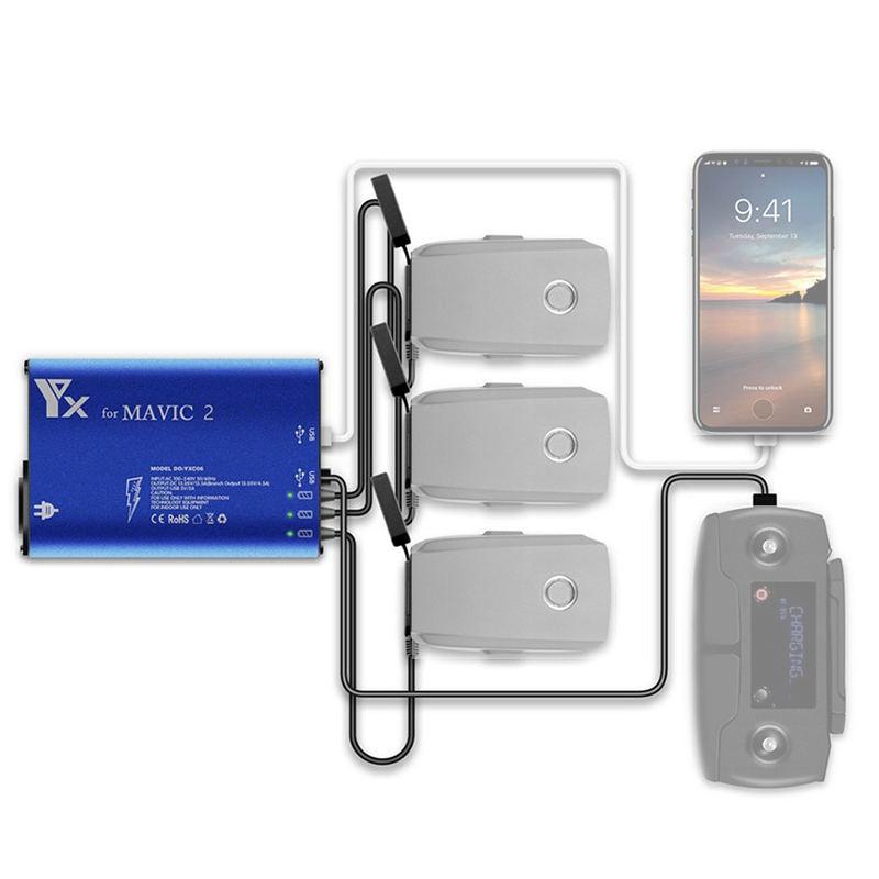 DJI Mavic 2 Pro Zoom Battery Charger Hub 5 in 1 Charging Hub for Mavic 2