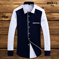 Hot 2016 Brand High Quality Autumn Shirt for Men Long Sleeve Casual Slim Fit Formal Mens Dress Shirts Camisa Xadrez Masculina