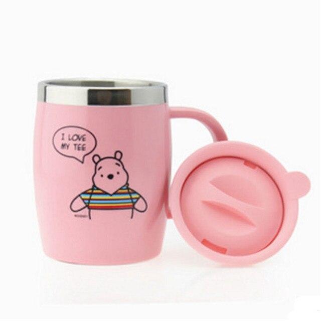 Office Vacuum Flasks Woman Drink Bottle Stainless Steel Garrafa Termica Inox Pink Coffee Water Bottles Green