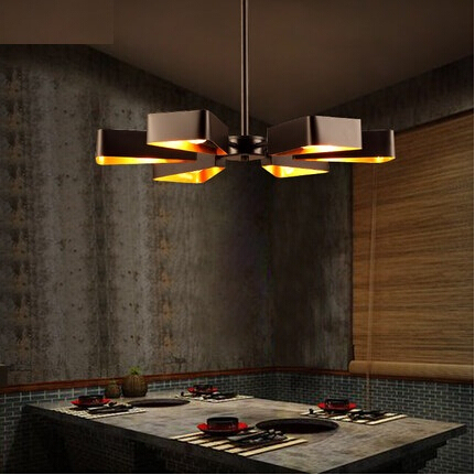 Nordic Loft Style Iron Fun Retro Led Pendant Light Fixtures For Dining Room Vintage Hanging