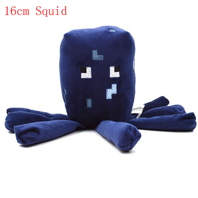 10pcs Lot 16cm Blue Minecraft Squid Stuffed Plush Toys Cute Squid