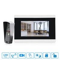 Домофон замок Системы видео Дверные звонки HD 7 Touch Экран Дверные звонки камер безопасности Видеодомофоны дома