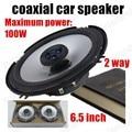 De alta calidad de un par de altavoces coaxiales del coche del coche FM estación externo de altavoces estéreo de altavoces de audio de 2 vías 2x100 W azul 6.5 pulgadas
