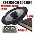 high quality a pair car  coaxial speaker car FM station external stereo speaker audio speaker 2 way 2x100W blue 6.5 inch