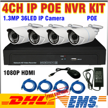 2017 New IP Camera NVR Poe Kit 4ch HDMI 1.3MP CCTV NVR System Video surveillance Security CCTV 4 CH Kit Onvif POE NVR