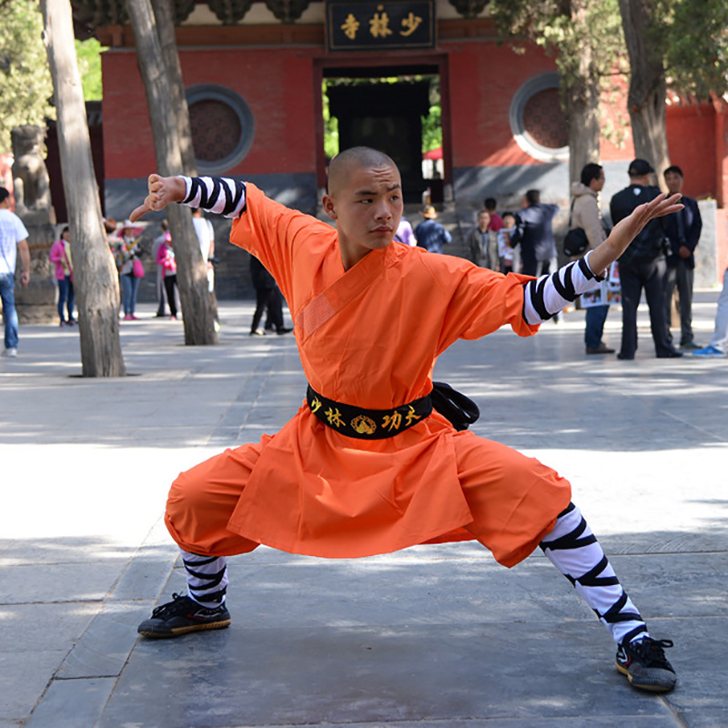USHINE 08 Height 100cm-180cm Cotton Kids ShaoLin KungFu Uniform Performance Suits Clothing Costume Anzug For Man Boys