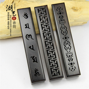 Monolith manual ebony box. Hollow out sweet box. Ta line incense incense box aloes lie incense wholesale