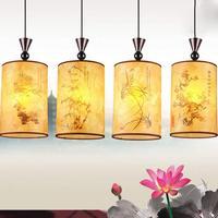 Chinese Classical Sheepskin PVC Pendant Light Lantern Pendant Lamp for Restaurant Dining Rooms Tea House Corridor Bar Balcony