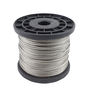 Image 2 - 100 м/рулон высокопрочный 1 мм трос из нержавеющей стали 7X7 Структура кабеля из нержавеющей стали трос для рыбалки