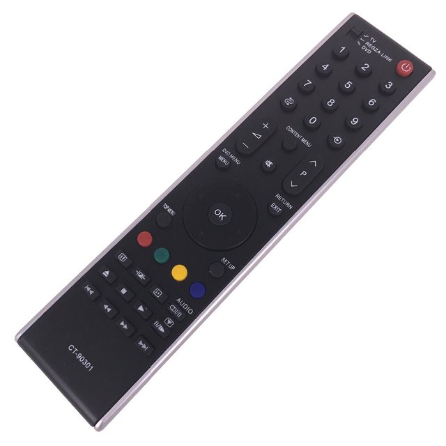 Hot selling remote control english buttons for toshiba tv.