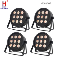 dj lights led par 9x12W RGBW With DMX512 DJ Disco dmx wash light dj controller 4pcs/lot