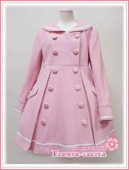 Manteaux Laine Hiver D'hiver Sailor Marque Filles Manteau Rose Vente Lolita Chaude Long 4CqwAp