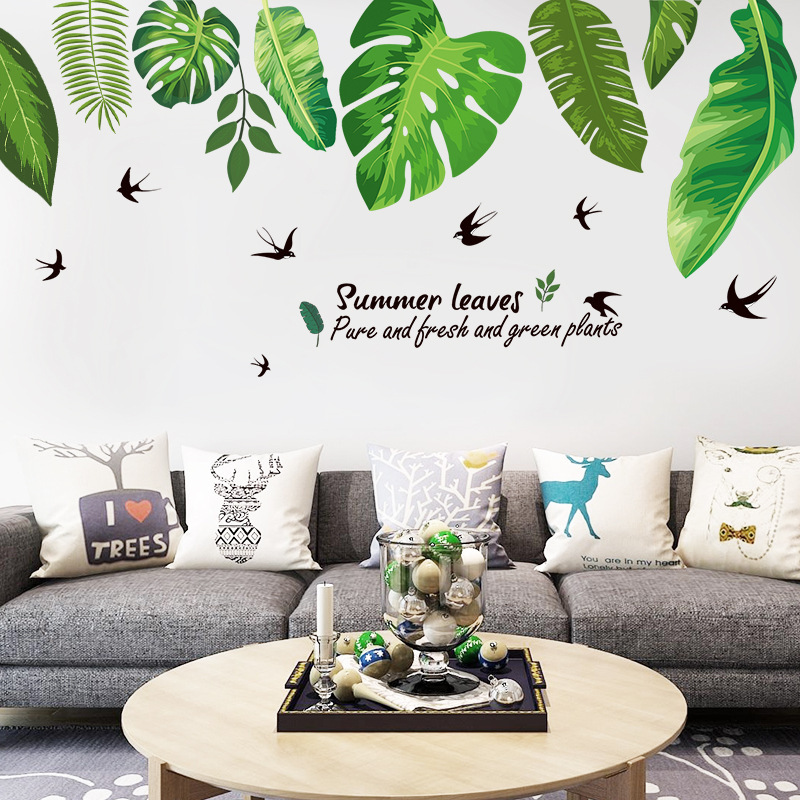 2018 The Leaves Can Be Removed, Background Decoration, Wall Stickers, Bedroom, Living Room, Tv ...