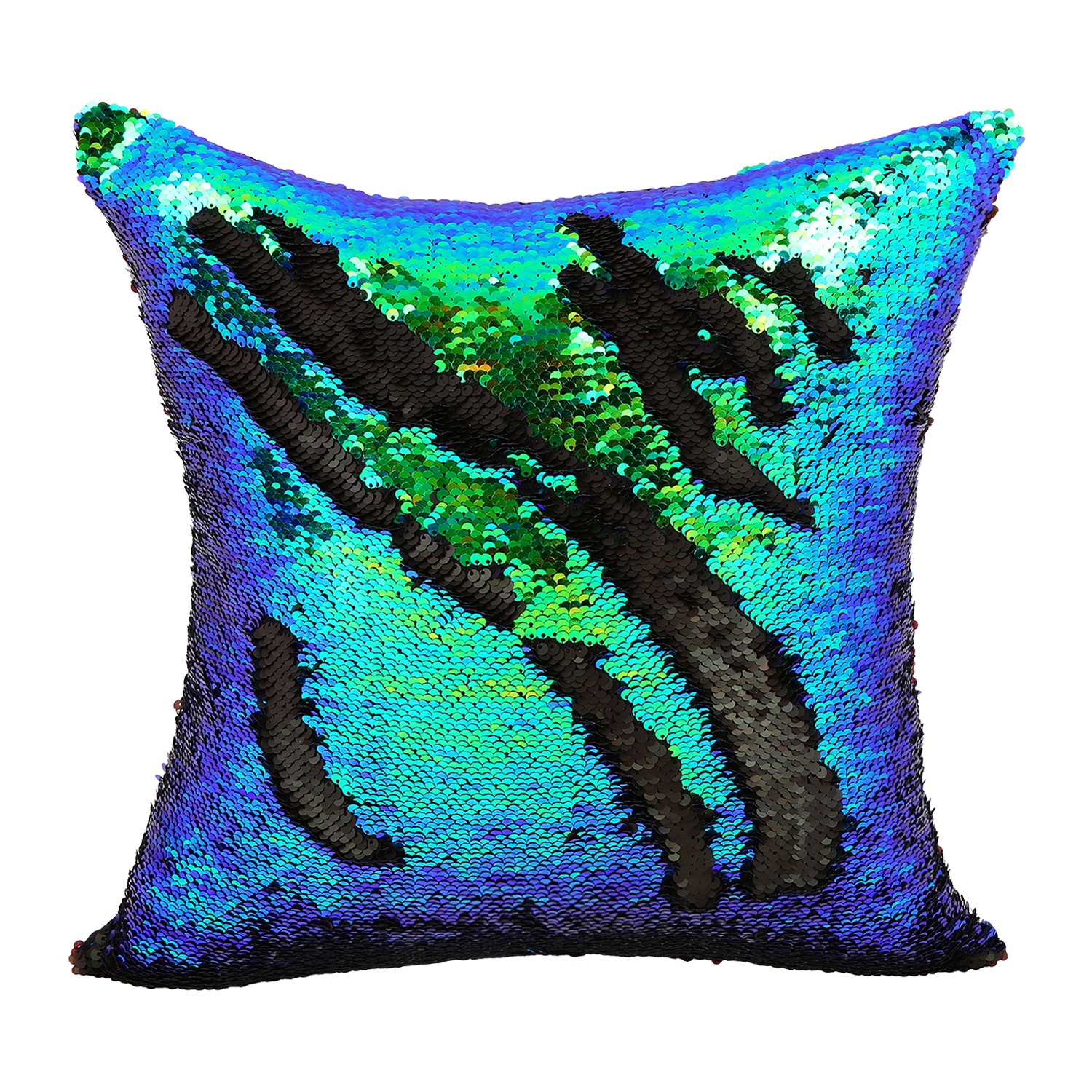 2016 DIY Glitter Sequins Throw Pillow Cases Color Changing Scale Hugging Home Cushion Decorative ...