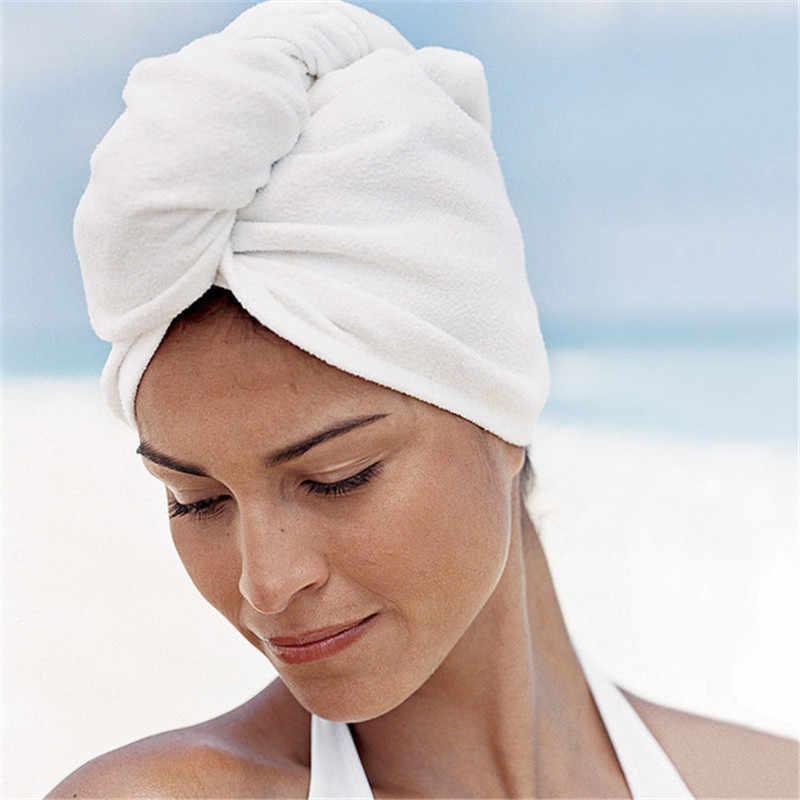 スーパー吸汗乾燥した髪タオル/マイクロファイバータオル/髪タオル女性、 /ターバン乾燥カーリー、ロング & 太い髪